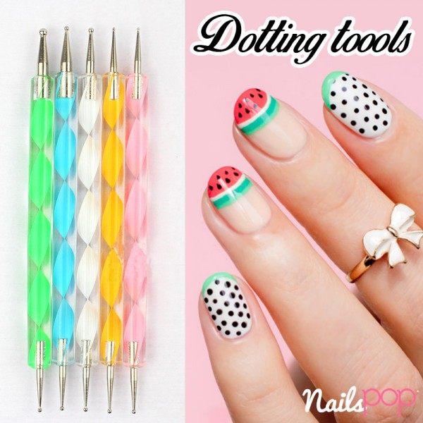 Dotting tool nail set