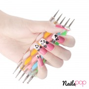 Dotting tool nail set dot