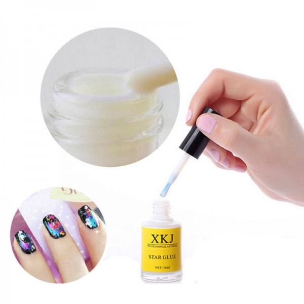 16ml-Nail-Art-White-Glue-Foils-Transfer-Tips-Adhesive-Star-Polish-Gel-UV-Decoration-Nail-Art